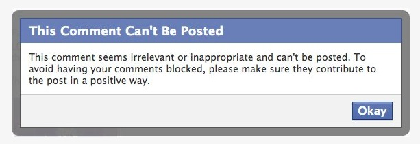 Facebook Butts Into Your Conversations and Censors Them If