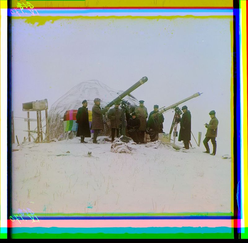 1907 Russian Total Solar Eclipse Expedition Color Photo By Sergey Prokudin-Gorsky
