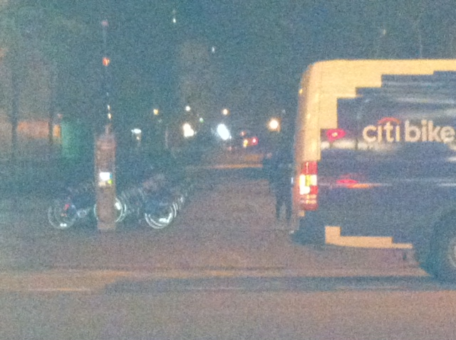 Citybikes at night