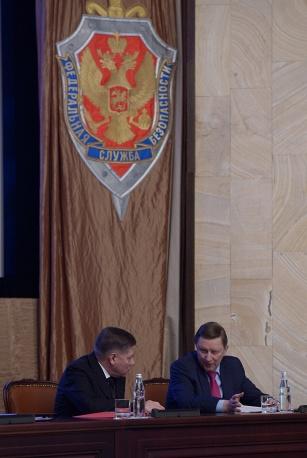 Vyacheslav Lebedev and Sergei Ivanov  FSB Aleksei Nikolsky presidential TASS
